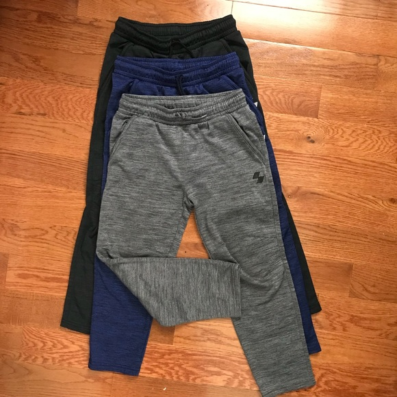 f47b3ee8e2 LOT of 3 Boys PLACE Sport Marled Fleece Pants 7/8